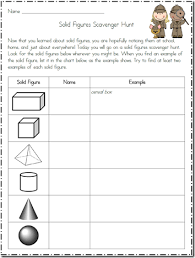 chart scavenger hunt geometry 3 d shapes thanks for the freebie