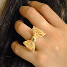 Bowring Home Decor by Golden Bow Ring Adjustable Bow Rings Modern Fashion Discovered