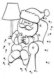 sleeping santa colouring picolour