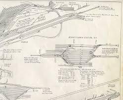 Amtrak Maps by Penn Station Pathfinder Maps U0026 Models Railroad Track U0026 Tunnel Maps
