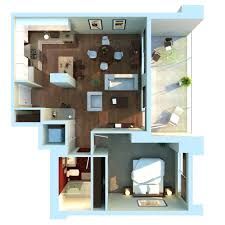 home design relieved sleeping and living area in apartment plans