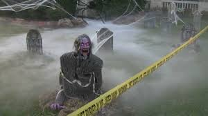 cool halloween yard decorations grillo halloween decorations 2012 demonica zombie guardian of