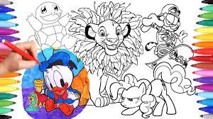cartoon characters coloring book 8 garfield simba donald