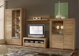 Wohnzimmerschrank In Eiche Etna Wohnwand 4 Tlg Anbauwand Eiche Massiv Geölt Wohnen Möbel