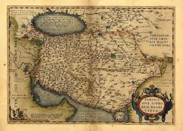 Persia Map Vintage Ortelius Map Old Iran Middle East Persia Mapas Pinterest
