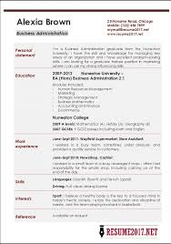 Administration Job Resume by Business Administration Resume Sample Resume Of Business