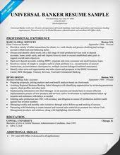 Banker Resume Universal Banker Resume Resume Samples Across All Industries