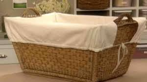 linen laundry hamper video how to make a laundry basket liner martha stewart