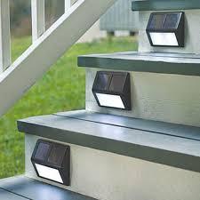 solar stair lights for deck lighting designs ideas