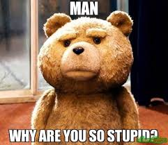 Are You Stupid Meme - man why are you so stupid meme ted 2665 memeshappen