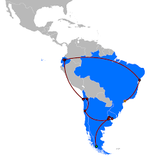Map Of Latin America by File The Amazing Race Latin America 3 Map Svg Wikimedia Commons