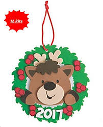 dated 2017 reindeer ornament craft kits