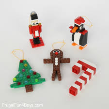 five lego christmas ornaments to make with building instructions