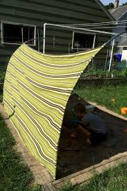 Backyard Sandbox Ideas Diy Outdoor Canopy My Happy
