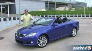 lexus convertible 2017 2012 lexus is 250 c convertible car review youtube