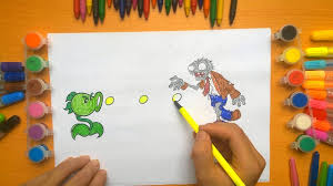 plants vs zombies coloring pages for kids coloring pages for