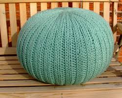 Pillow Ottoman Knit Pillow Pouf Ottoman Light Teal 98 00 Via Etsy For The