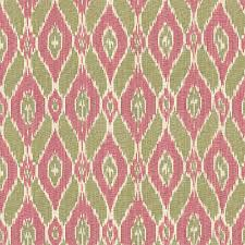 Drapery Fabrics Pink And Green Handwoven Ikat Fabric Eclectic Drapery Fabric
