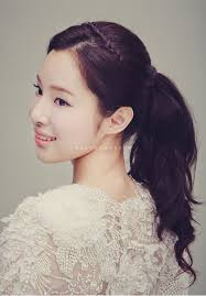 korean wedding hair ponytail far far away hair u0026 makeup