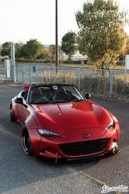 mazda miata stance автомобиль mazda miata красного цвета кабриолет в тюнинге
