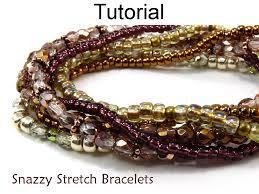 beading elastic bracelet images Beading pattern tutorial stretch bracelets simple bead JPG
