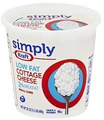 Nutrition Facts For Cottage Cheese by Kraft Simply Cottage Cheese Small Curd 2 Milkfat Low Fat