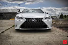 lexus rcf tires white lexus rcf on vossen wheels has the look of a cult car