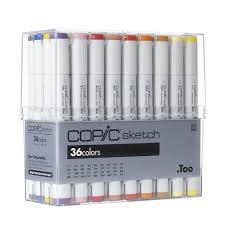 copic sketch marker set 36 color basic