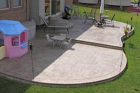 Backyard Cement Ideas Fabulous Patio Shape Ideas 17 Best Images About Patio On Pinterest
