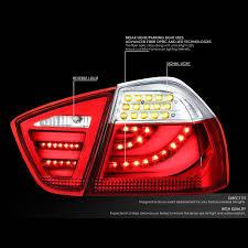 fiber optic tail lights amazon com dnamotoring tl led 3d e9005 rd cl tail light assembly