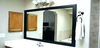 Bathroom Wall Mirror Ideas The Framed Mirror Bathroom Wall Mirrors A Hotel Bathroom Mirror A