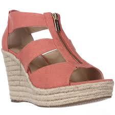 michael michael kors damita wedge espadrille sandals pink