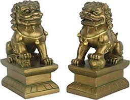 foo dogs small pair of asian foo dogs and co uk