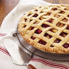 pear cranberry lattice pie thanksgiving recipes