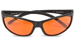 amazon com blue blocking amber glasses for sleep biorhythm safe