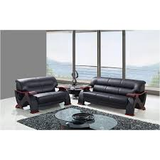 global furniture bonded leather sofa u2033 s bonded black global furniture sofa black
