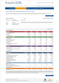 Income Statement For Non Profit Organization Template by Financial Scan