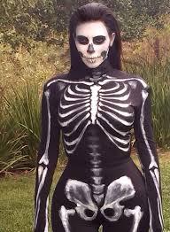 Catsuit Halloween Costumes Ray Skeleton Print Catsuit Gothic Halloween Costume