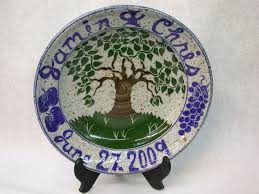 personalized wedding plate wedding plates scargopottery