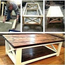 Rustic Storage Coffee Table Diy West Elm Rustic Storage Coffee Table Easy To Make Furniture