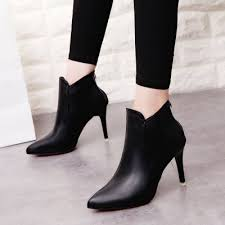 s zipper ankle boots pointed toe back zipper solid color ankle boots novashe com