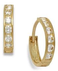 10k earrings cubic zirconia leverback drop earrings 1 2 ct t w in 10k gold