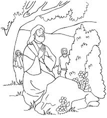 jesus praying garden