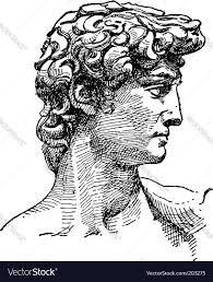 michelangelo david sketch royalty free vector image