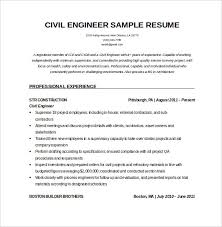 Free Sample Resume Template by Civil Site Engineer Sample Resume 22 16 Civil Engineer Resume