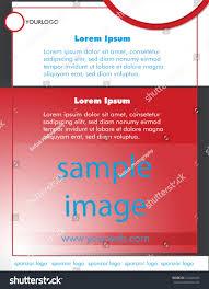 magazine ad template stock vector 254426455 shutterstock