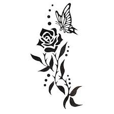 Flowers On Vines Tattoo Designs - 20 best black flower vine butterfly tattoo images on pinterest