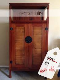 Jewelry Armoire Pier One Pier 1 Armoire For Free Valued At 500 Secondhand Sunday