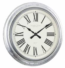 wall clock london clock company antique silver leaf large wall