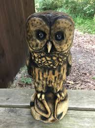 great wood carvings owl chainsaw carving wood carving carved wood by josh